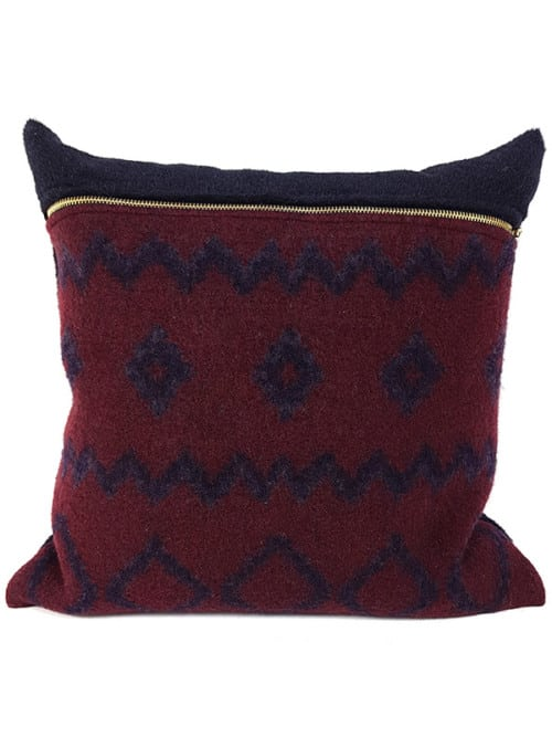 Aritzia Boiled Wool Mud Cloth Throw Pillow Front
