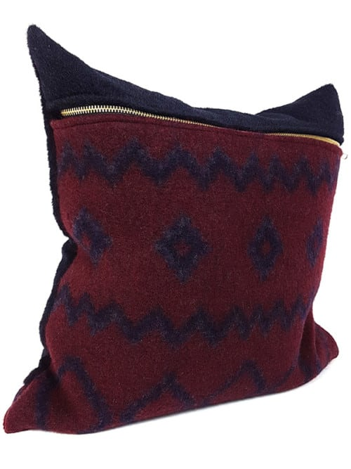 Aritzia Boiled Wool Mud Cloth Throw Pillow Side