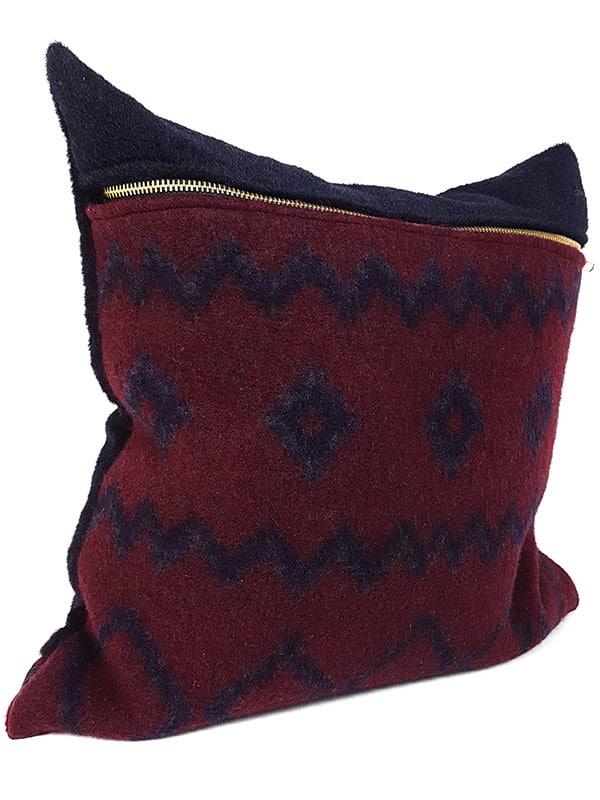 Aritzia Boiled Wool Mud Cloth Throw Pillow Side