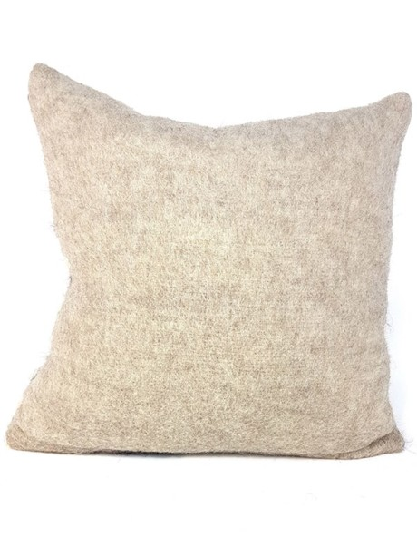 Australian Llama Throw Pillow Back