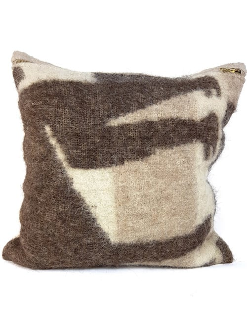 Australian Llama Throw Pillow Legs Front