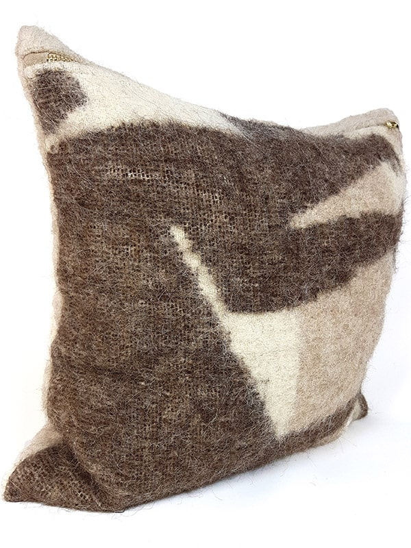 Australian Llama Throw Pillow Legs Side