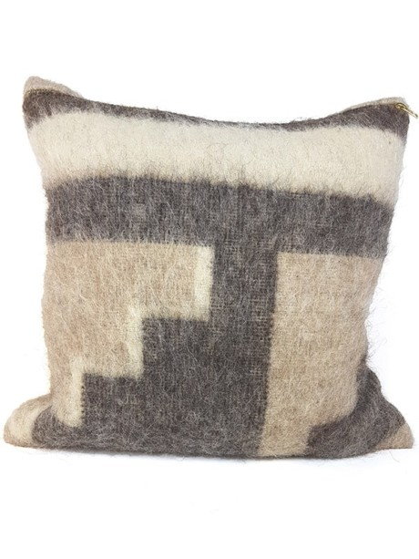 Australian Llama Throw Pillow Stairs Front