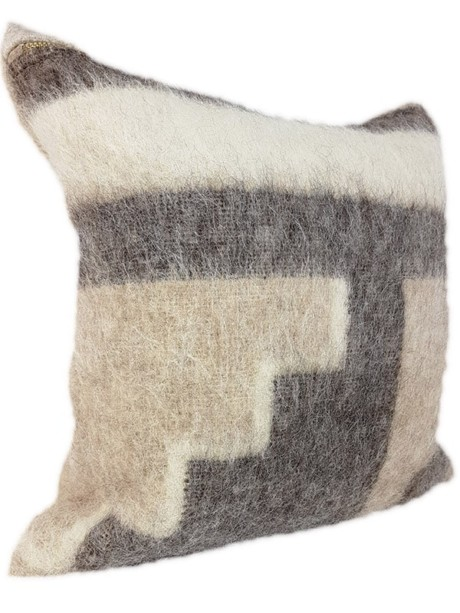 Australian Llama Throw Pillow Stairs Side