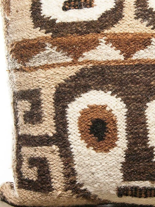Aztec Wool Woven Face Square Pillow Zoom
