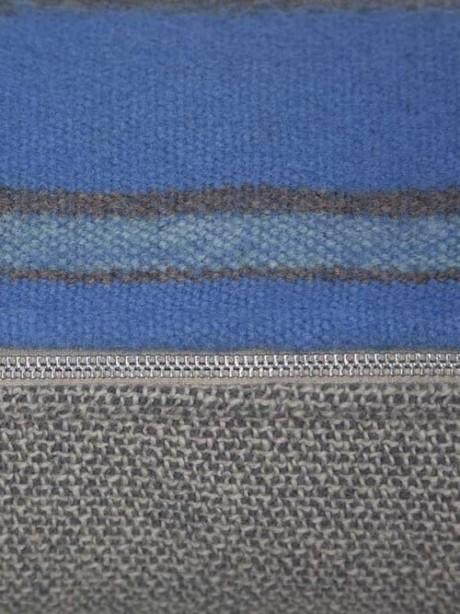 Azure South American Lumbar Pillow Zipper Zoom