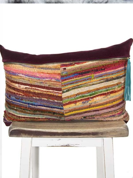 Belize Silk Box Woven Lumbar Pillow