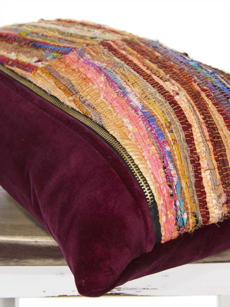 Belize Silk Box Woven Lumbar Pillow Corner