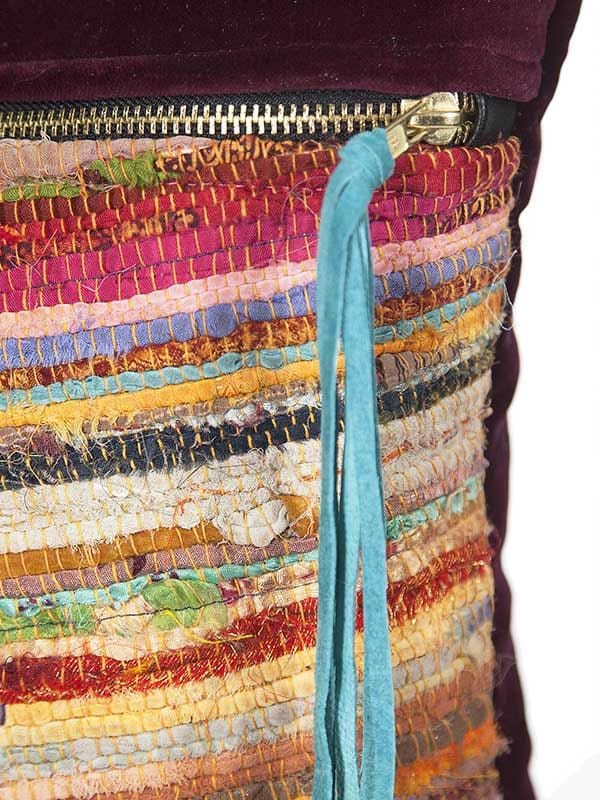 Belize Silk Box Woven Lumbar Tassel Zoom