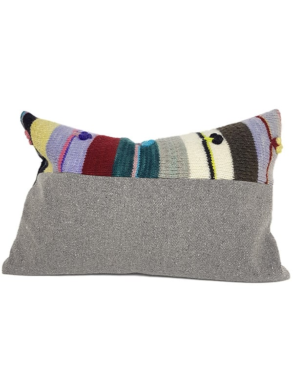 Bobble Striped Small Lumbar Pillow Back