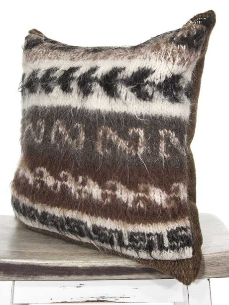 Bolivian Alpaca Throw Pillow Angle
