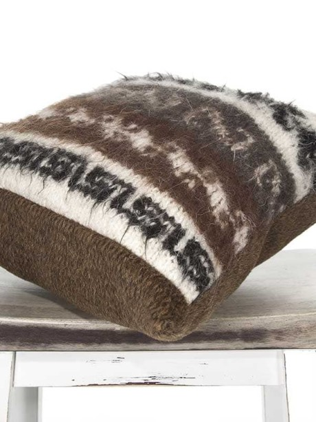 Bolivian Alpaca Throw Pillow Corner