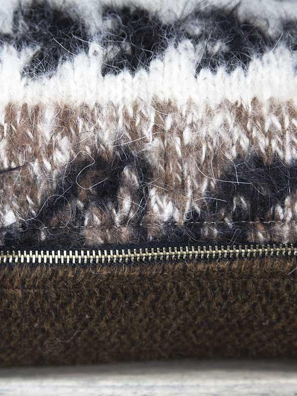 Bolivian Alpaca Throw Pillow Zipper Zoom