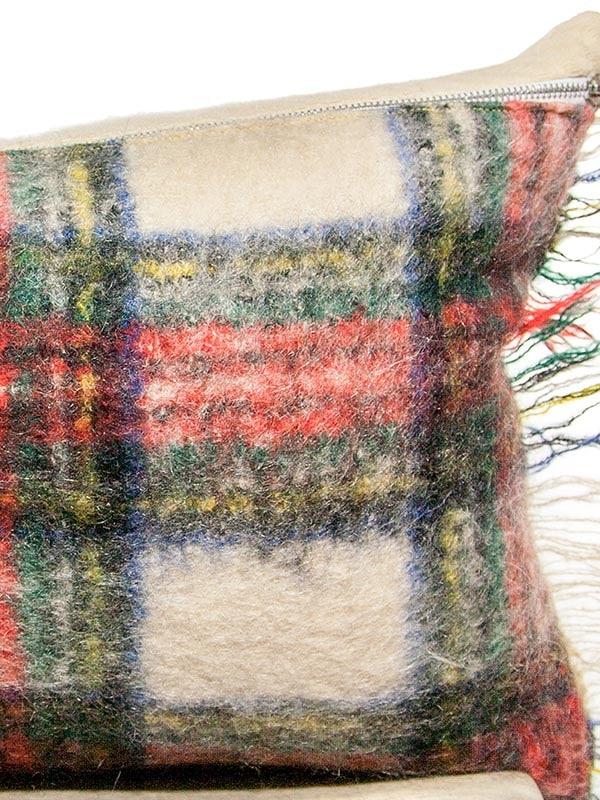Felted Primary Tartan Lumbar Pillow Zoom