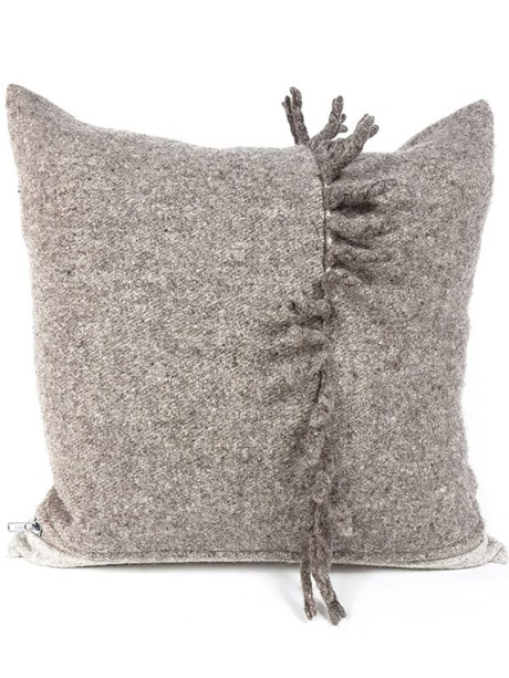 Felted Stubby Mohawk Throw Pillow Wool Front