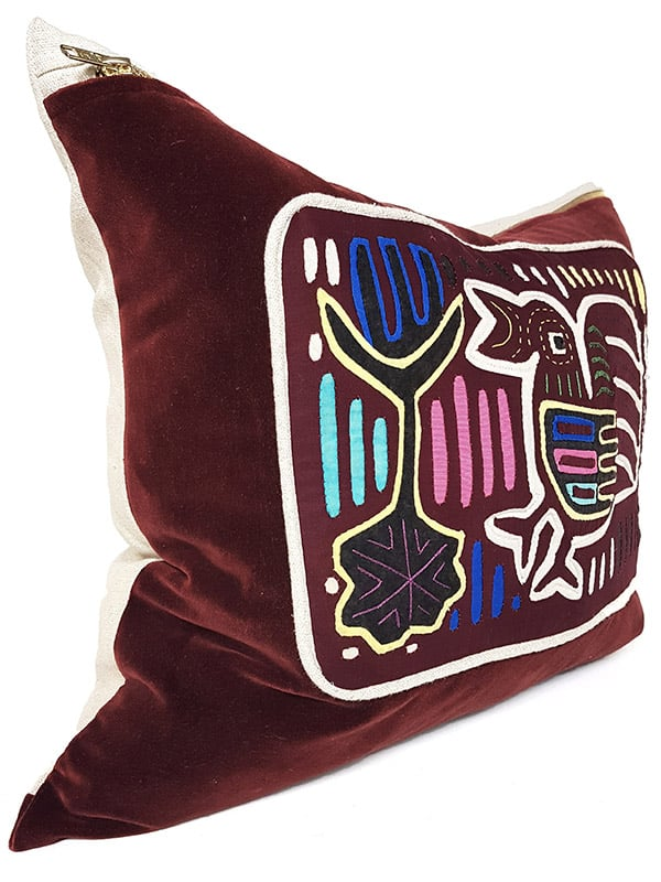 First Nations Hand Quilted Small Lumbar Side