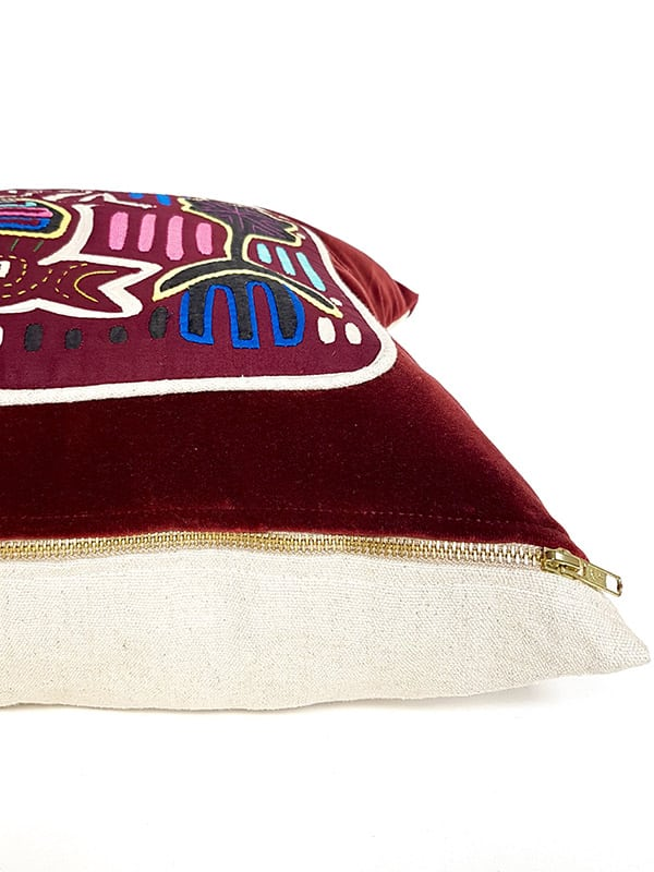 First Nations Hand Quilted Small Lumbar Zipper