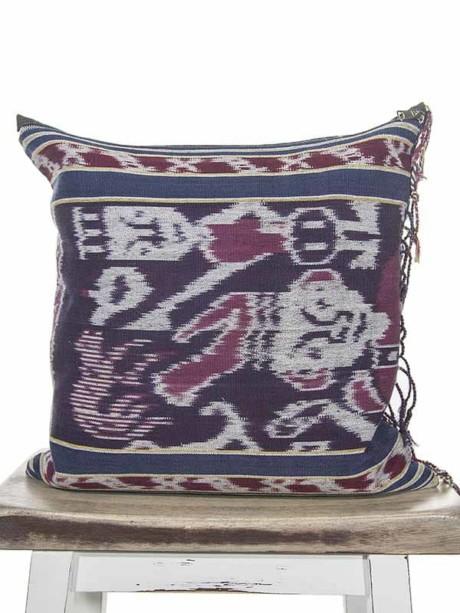 Indonesian Ikat Throw Pillow
