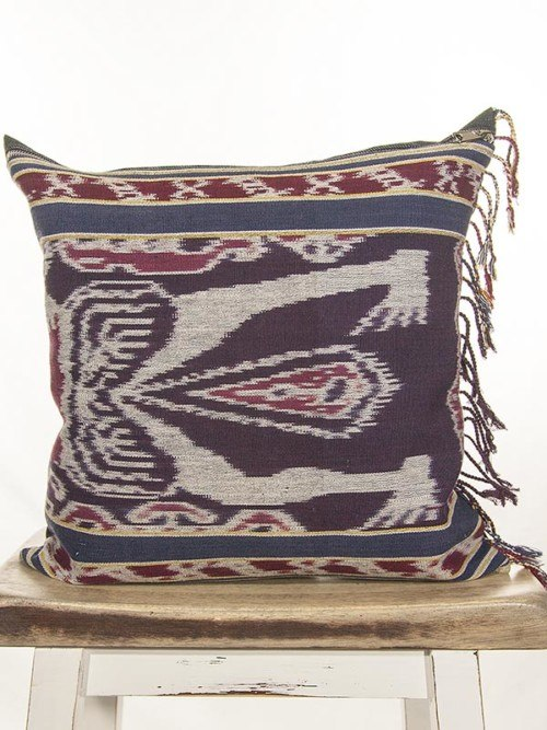 Indonesian Ikat Throw Pillow