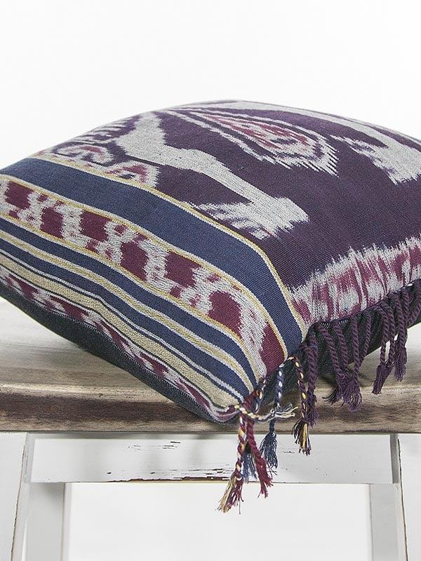Indonesian Ikat Throw Pillow Corner