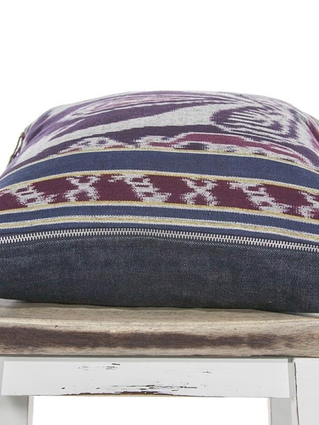 Indonesian Ikat Throw Pillow Flat Zipper