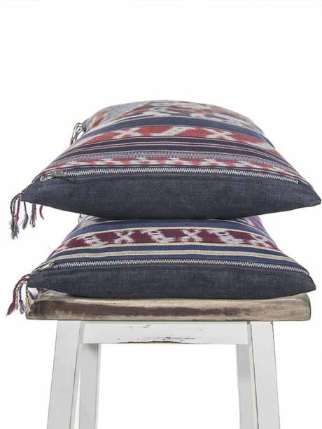 Indonesian Ikat Throw Pillow Stack