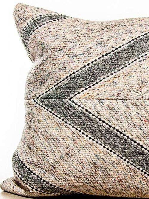 Matt Cotton Striped Square Pillow Zoom