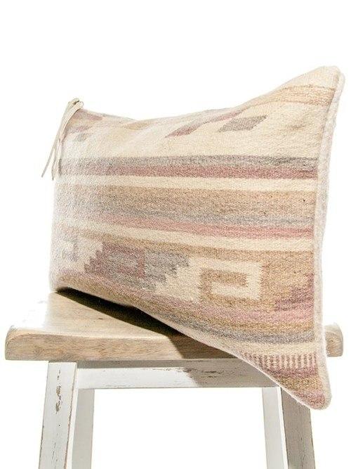 Mauve Vintage Navajo Lumbar Pillow Corner