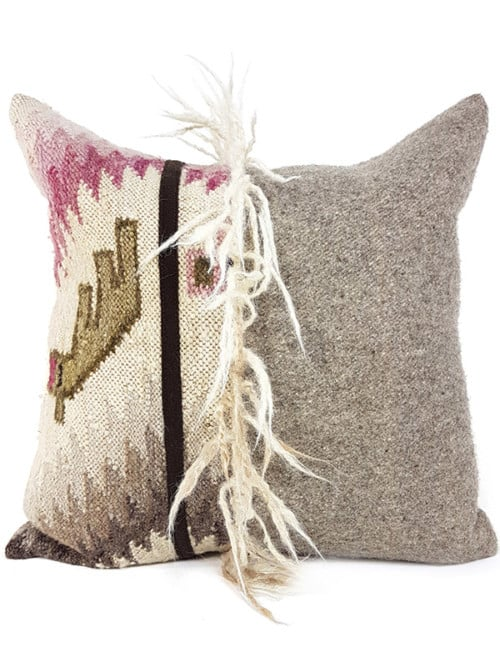 Mohawk Navajo Throw Pillow Wool Alpaca Front