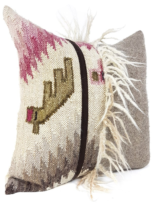Mohawk Navajo Throw Pillow Wool Alpaca Side