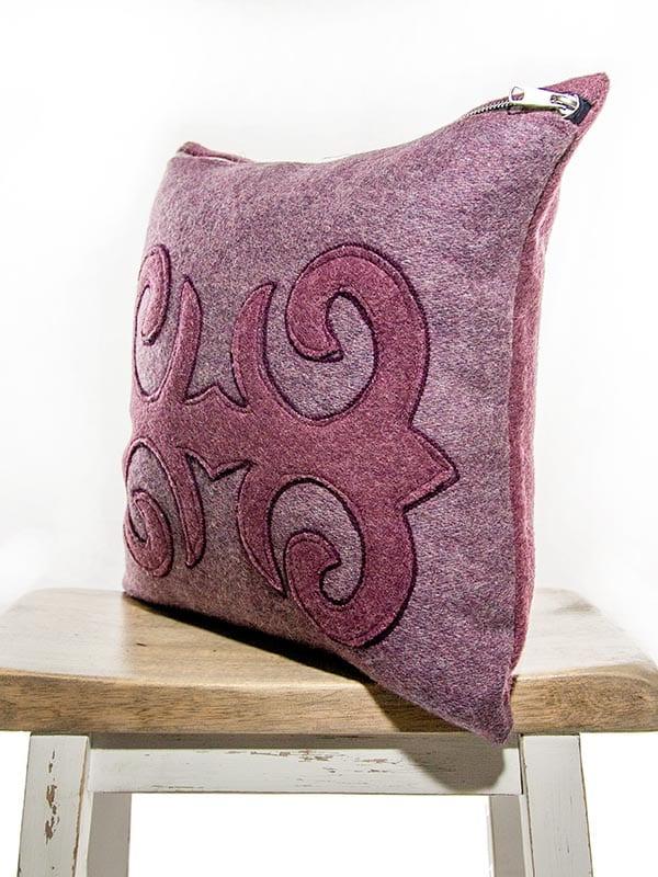 Moroccan Burgundy Mauve Throw Pillow My Vintage Pillow