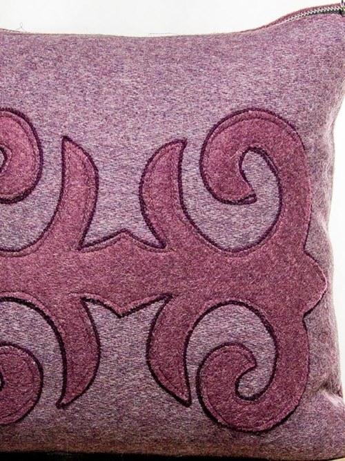 Moroccan Burgundy Mauve Throw Pillow Zoom