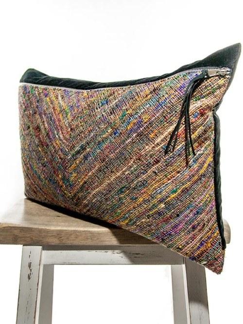 Moroccan Silk Basket Weave Rectangle Pillow Corner