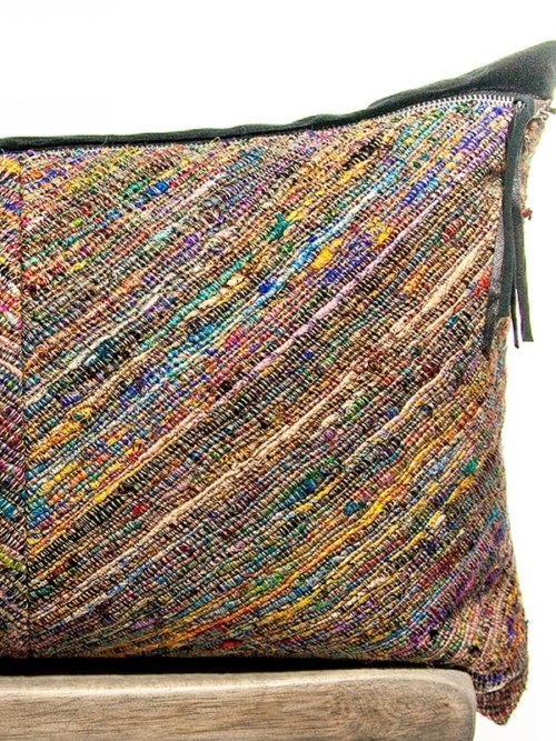 Moroccan Silk Basket Weave Rectangle Pillow Zoom