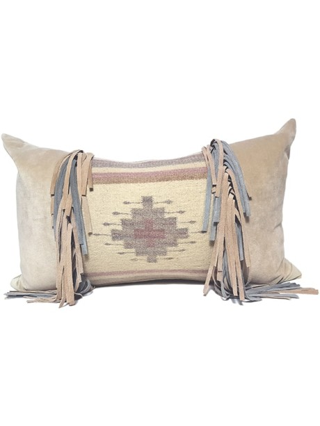 Navajo Nation Fringed Lumbar Pillow Cross Fringe
