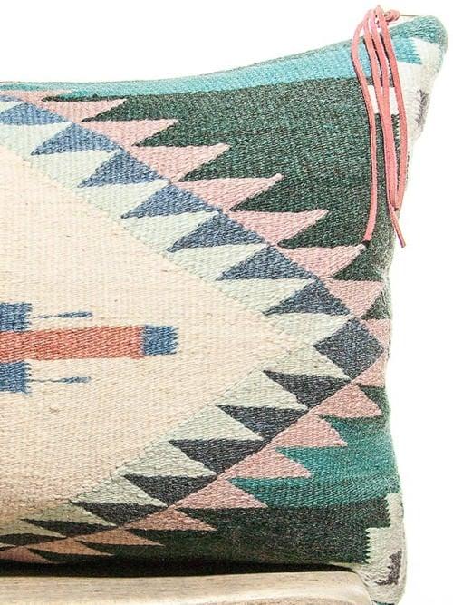 Teal Vintage Navajo Lumbar Pillow Zoom