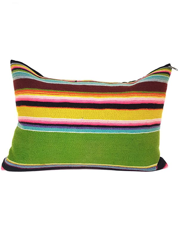 Vintage Granny Smith Serape Lumbar Pillow Front