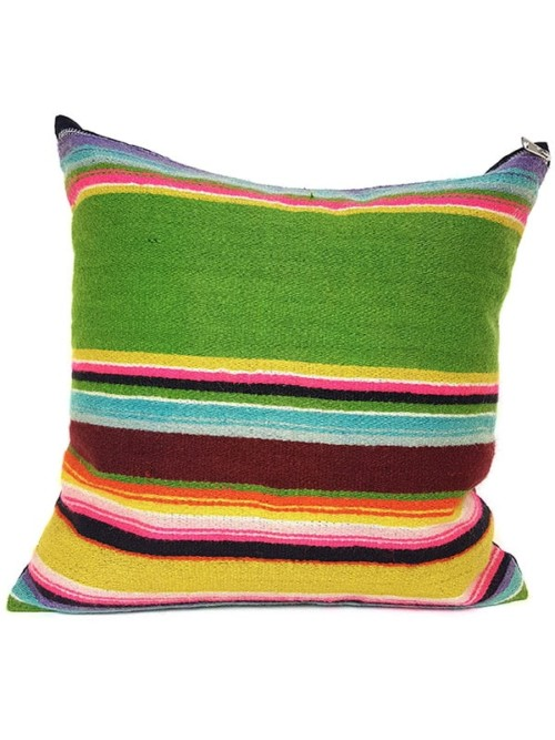 Vintage Granny Smith Serape Throw Pillow Front