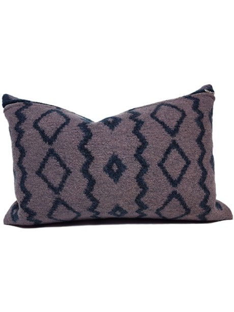 Aritzia Boiled Wool Lumbar Pillow Front