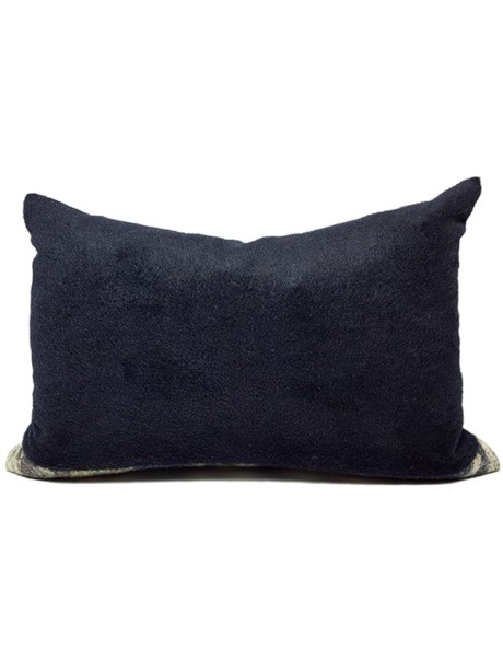 Aritzia Boiled Wool Lumbar Pillow Gold Back