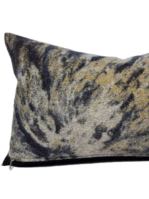 Aritzia Boiled Wool Lumbar Pillow Gold Feature