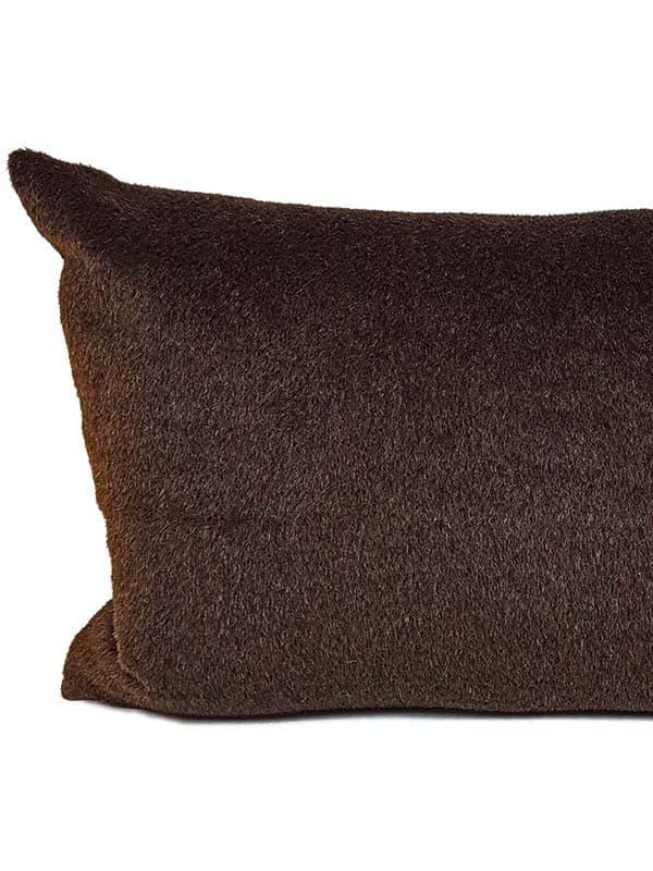 Carob Navajo Lumbar Pillow Back
