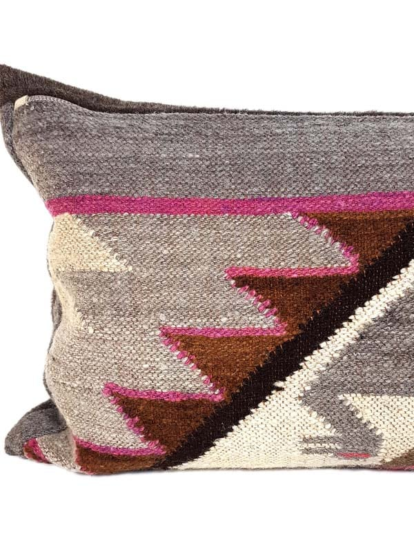 Carob Navajo Lumbar Pillow Feature