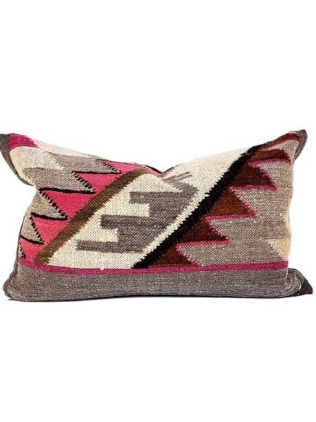 Carob Navajo Lumbar Pillow Front