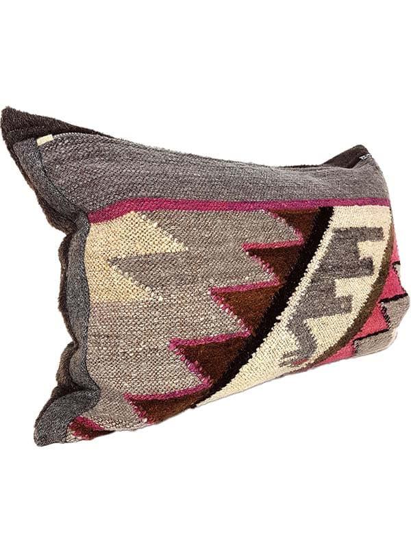 Carob Navajo Lumbar Pillow Side
