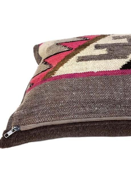 Carob Navajo Lumbar Pillow Zipper