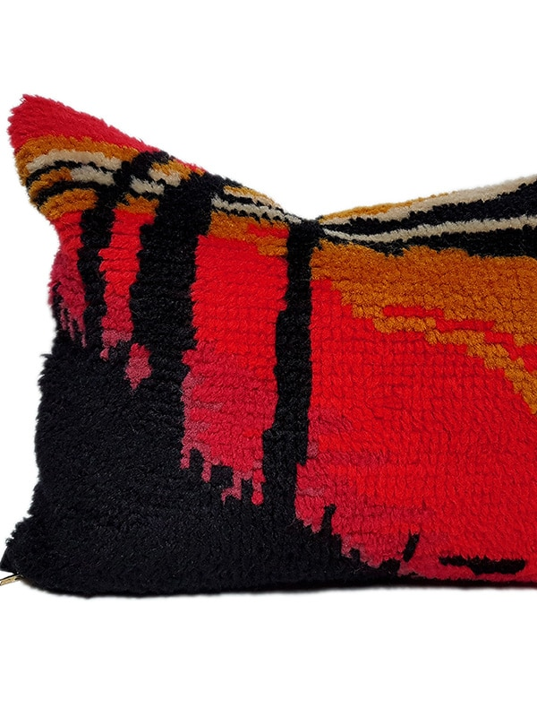 City Scape Trunks Small Lumbar Pillow Feature
