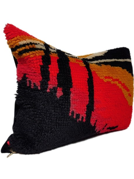 City Scape Trunks Small Lumbar Pillow Side