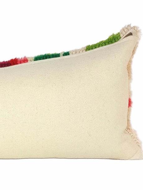Floral Latch Hook Lumbar Pillow Back