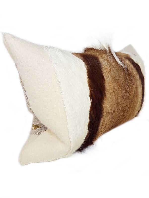 Goat Mohawk Lumbar Pillow Side